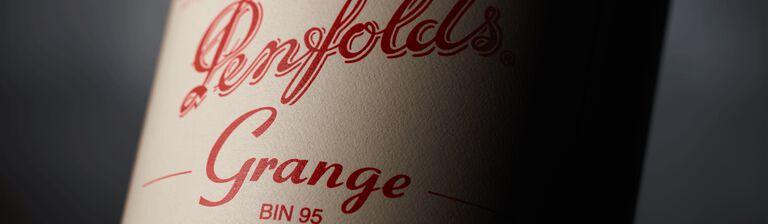 Close up of Grange 2016 label