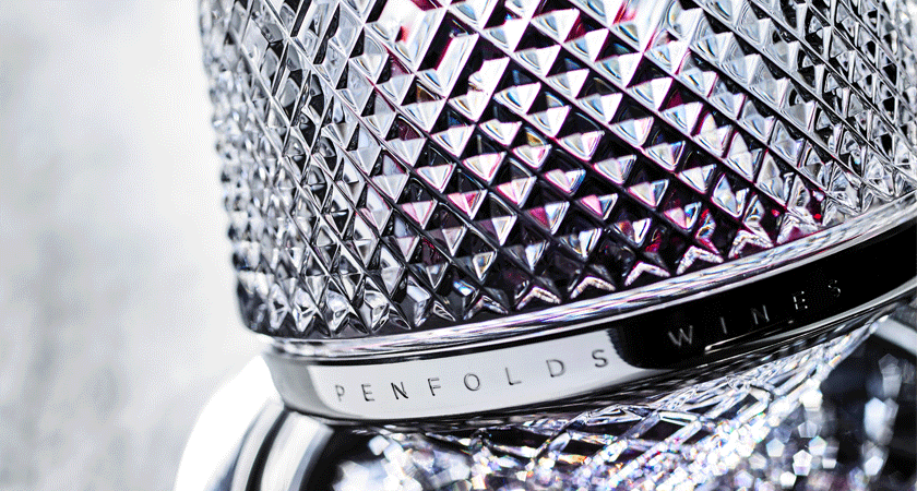 Saint Louis crystal decanter close up