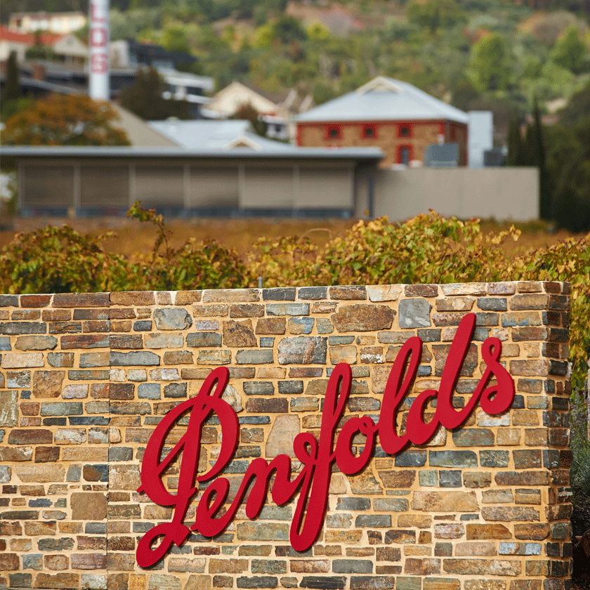 The entrance sign at Penfolds Magill Estate