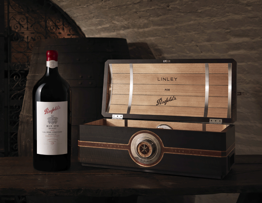 Linley x Bin 170 Shiraz Gift Box and Bottle