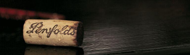 Penfolds cork on bench.