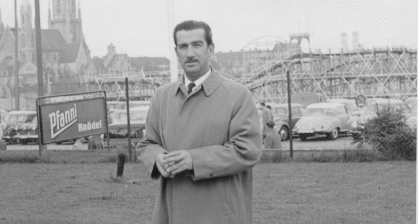 Max Schubert in Europe on his 1950 trip.