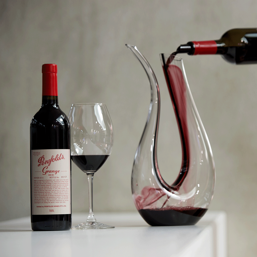 Grange being poured into a decanter
