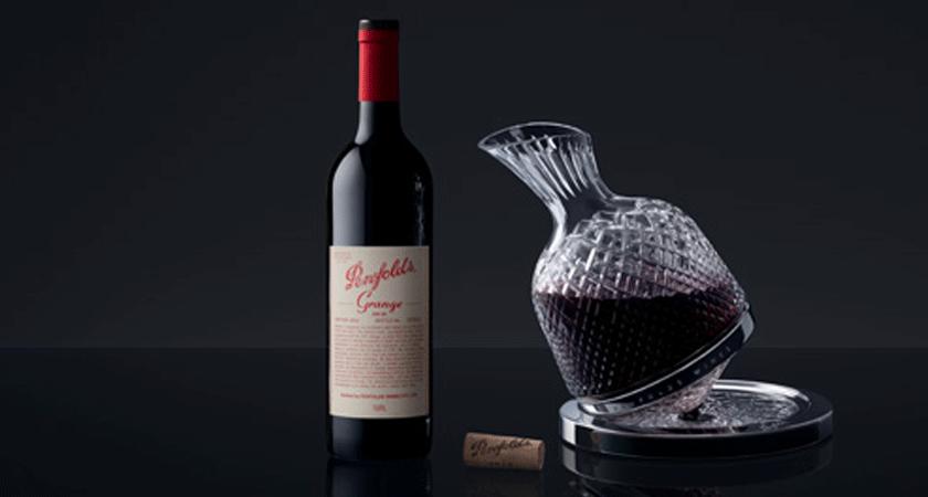 Grange 750ml bottle with Saint Louis crystal decanter