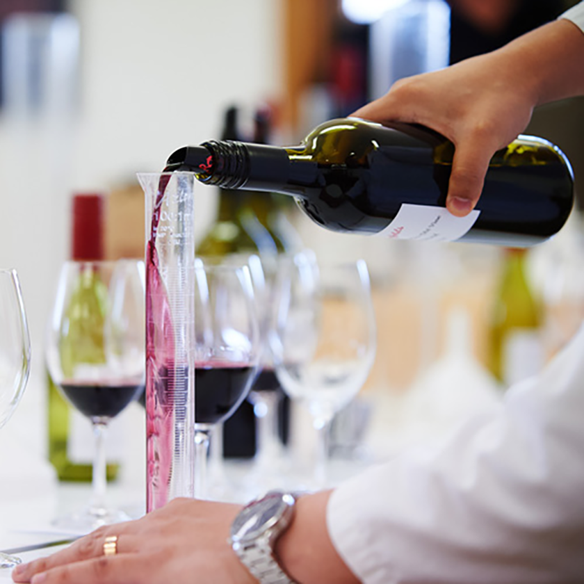 Make your own blend, wine pouring