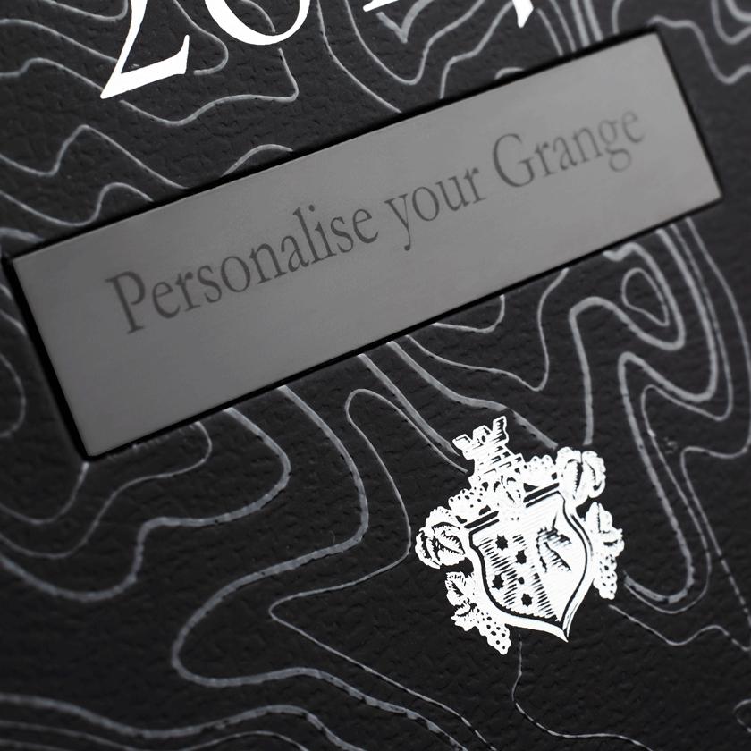 Personalised plaque on Grange gift box