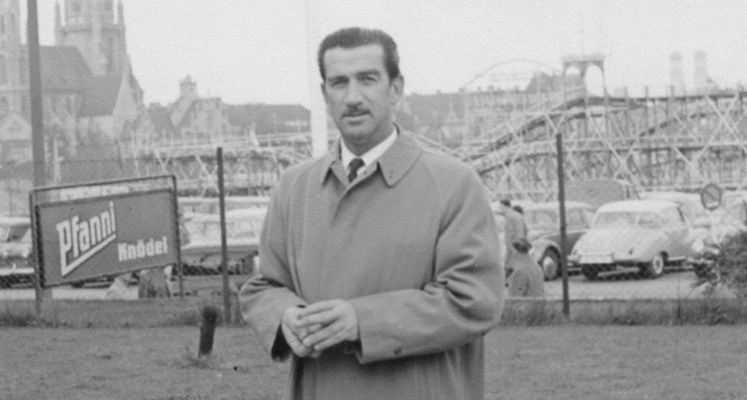 Max Schubert in Europe in the late 1940s
