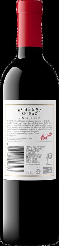 2016 Penfolds St Henri Shiraz Back