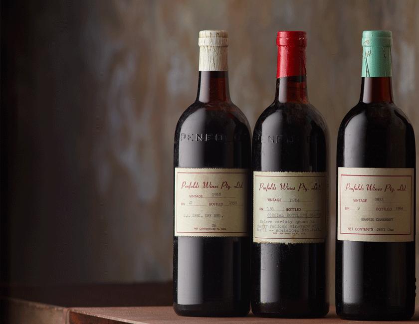 Three early release Grange bottles