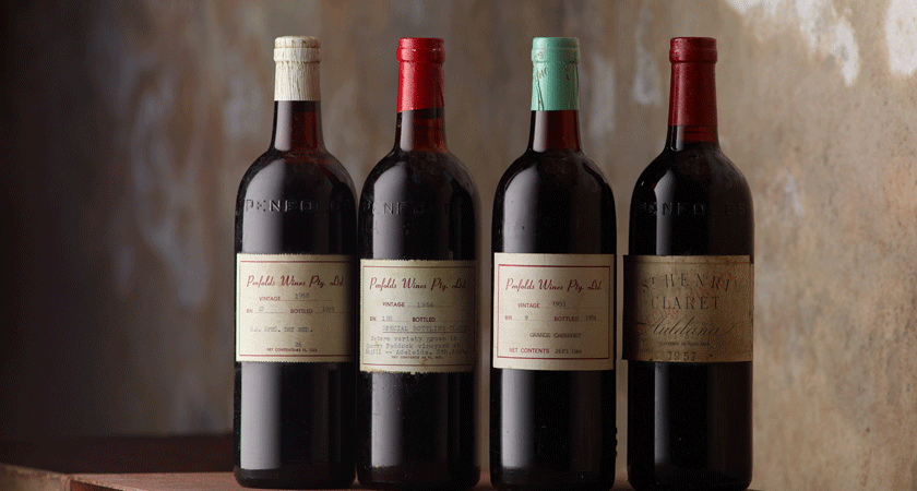 Heritage bottles of Grange