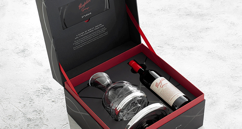Saint Louis decanter in gift box with Grange bottle