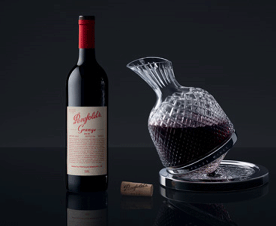 Saint-Louis Decanter Collaboration with Grange bottle