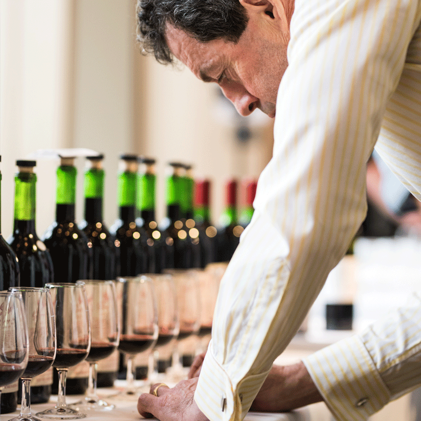 Peter Gago assessing wine at a Re-corking Clinic