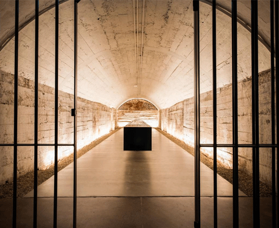 View through the tunnels of Magill Estate.  The original hiding spot of Max Schubert's secret Grange vintages