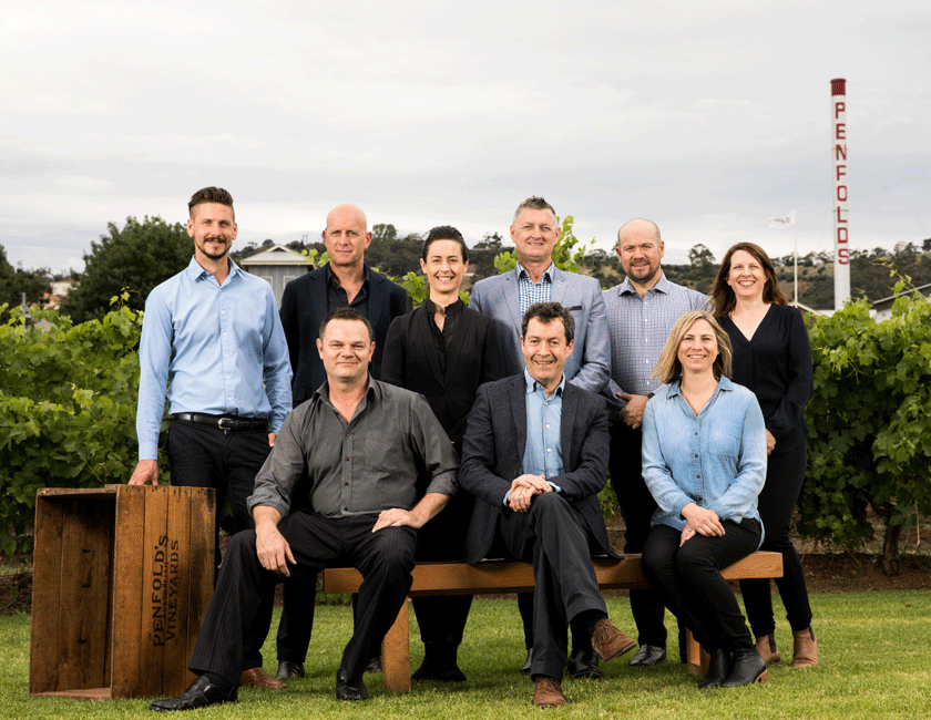 Penfolds winemaking team on the lawns of Magill Estate