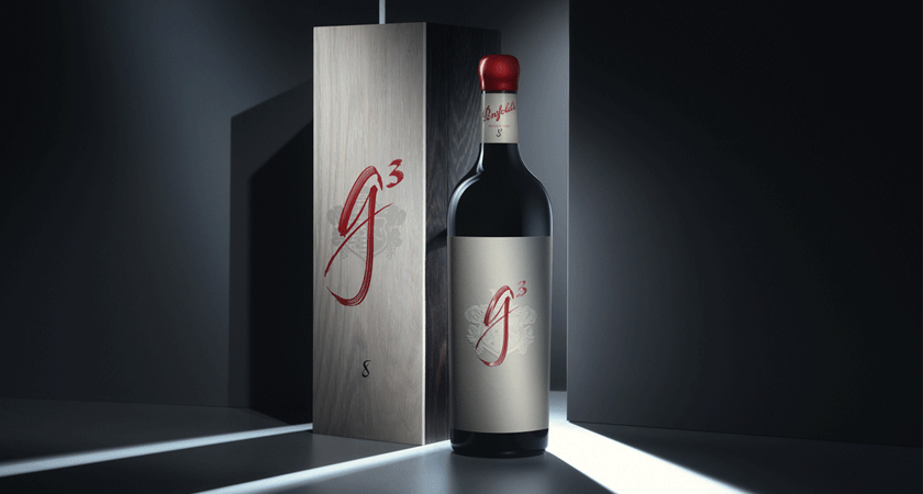 Penfolds g3 750ml bottle with gift box