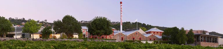 View of Magill Estate Winery at sunset