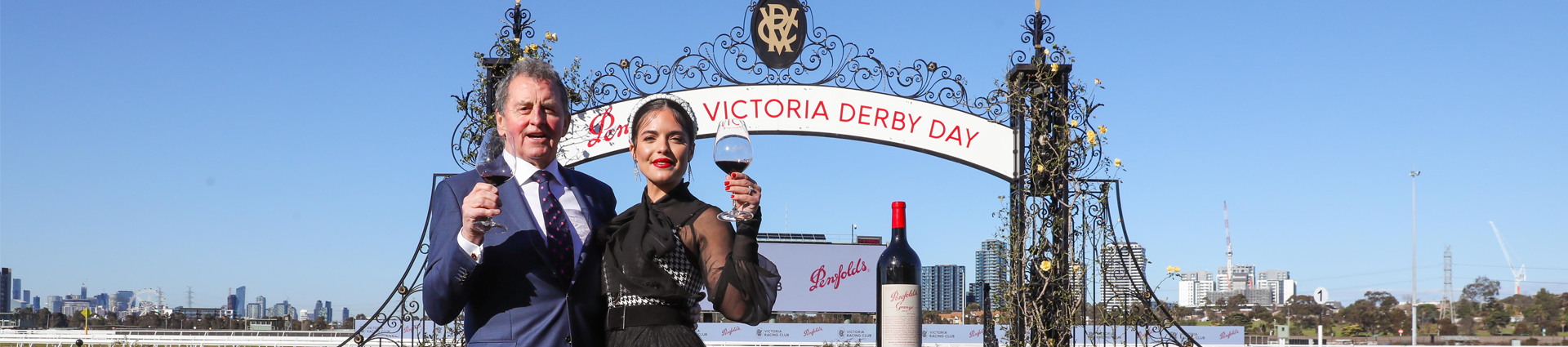 Olympia Valance toasts Penfolds Victoria Derby Day