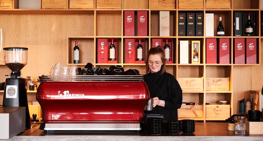 Magill Estate Kitchen coffee machine